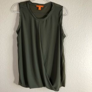Joe Fresh olive green sleeveless top